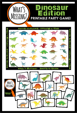What's Missing - Dinosaur Party Game!