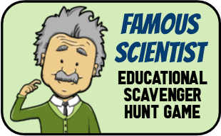Famous Scientist Scavenger Hunt Game
