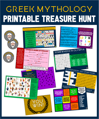 Greek Mythology Trivia Hunt - Printable Party Game!