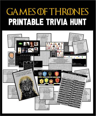 Game of Thrones Trivia Treasure Hunt