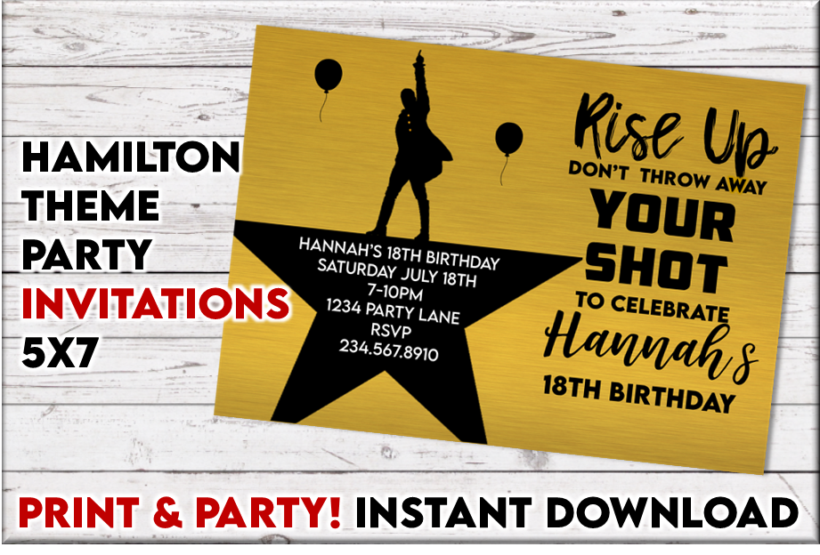 Hamilton Party Invitation - Editable!