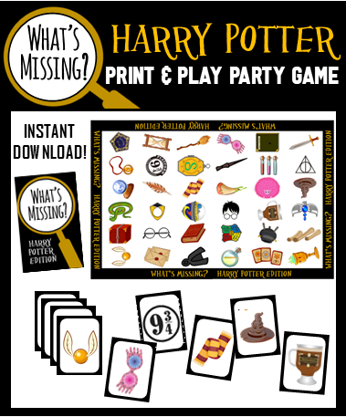 What's Missing - Harry Potter Party Game!