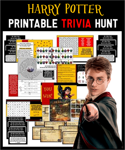 Harry Potter Trivia Treasure Hunt