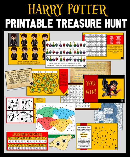 Printable Harry Potter Treasure Hunt Game
