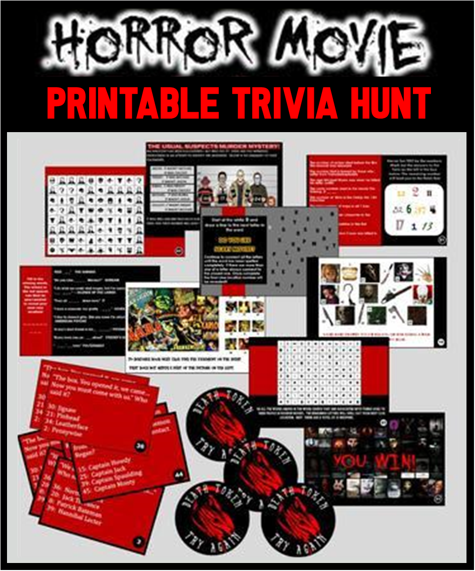 Horror Movie Trivia Party Hunt Game
