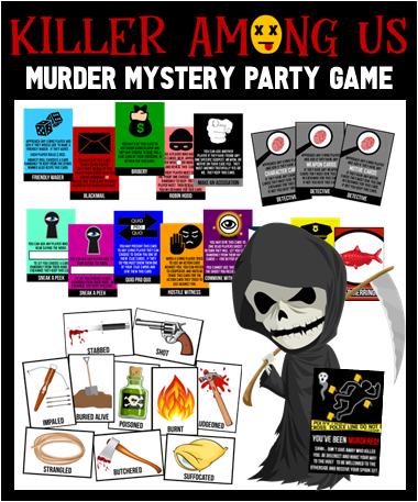 Killer Among Us - A Murder Mystery Scavenger Hunt