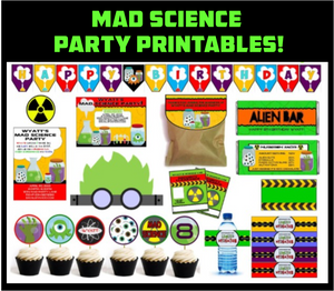 Mad Science Party Printables - EDITABLE!
