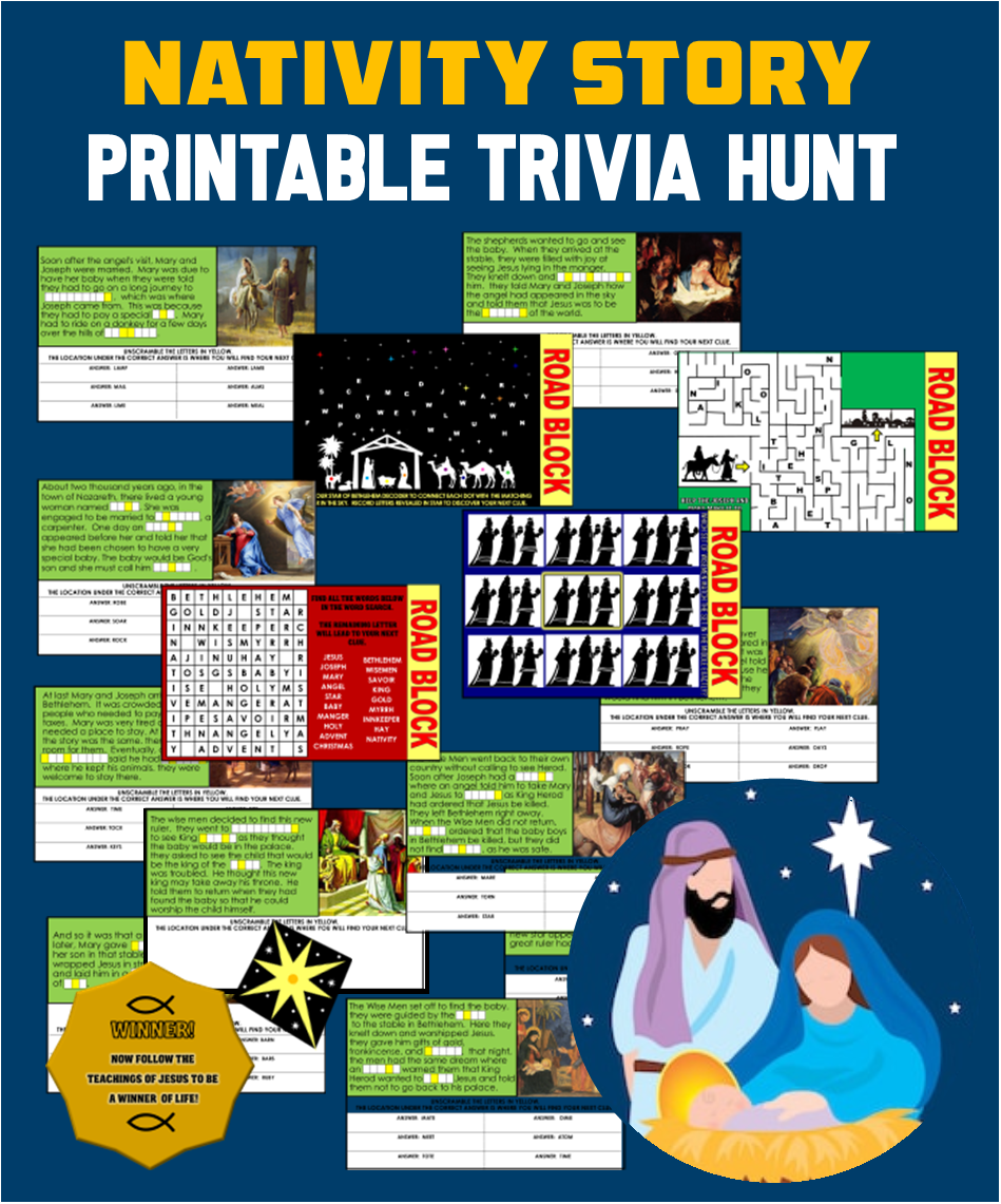 Nativity Treasure Hunt - Editable!