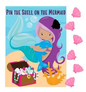 Pin the Shell on the Mermaid