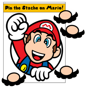 Pin the Mustache on Mario Game