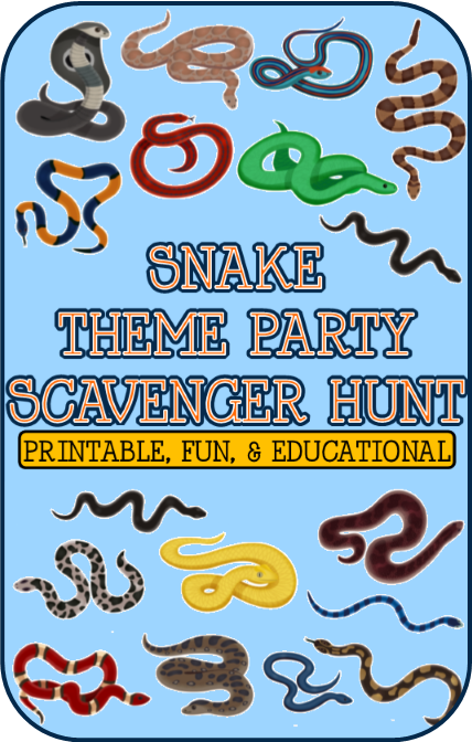 Snake Party Scavenger Hunt