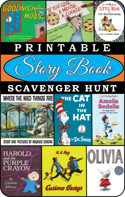 Story Book Party Scavenger Hunt