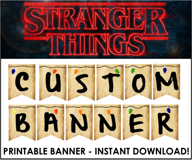 Stranger Things Customizable Banner