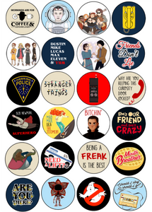 picture about Printable Cupcake Toppers called Stranger Components Bash Cupcake Toppers