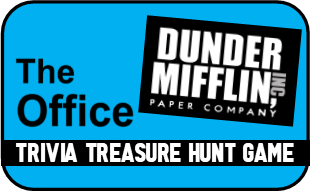 The Office Show Trivia Treasure Hunt - Printable Party Game!