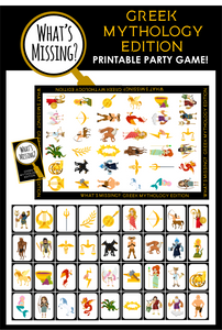 What's Missing - Greek Mythology Party Game!