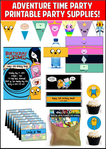 Adventure Time Party Printables - EDITABLE!