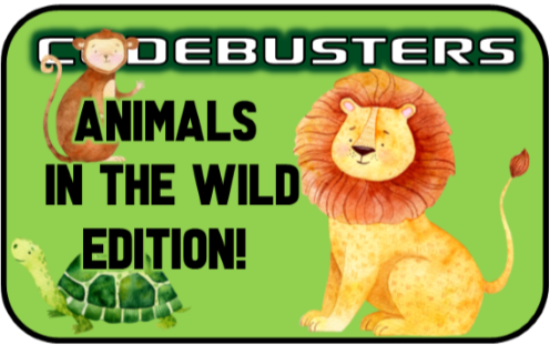 Safari Animal Riddles CodeBuster Game!