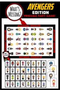 What's Missing - Avengers Party Game