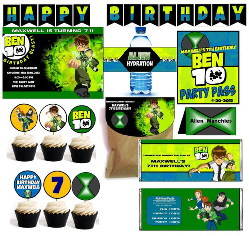 Ben 10 Party Printables - PERSONALIZED