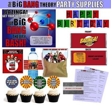 Big Bang Theory Party Printables ~ EDITABLE