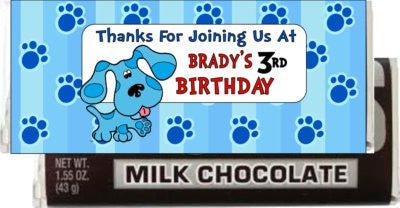 Blue's Clues Candy Bar Wrapper - PERSONALIZED