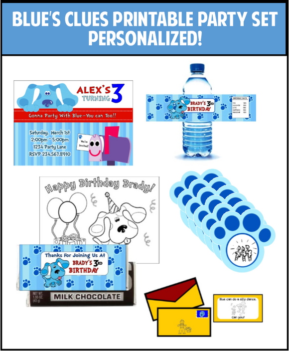 Blue's Clues Party Printables