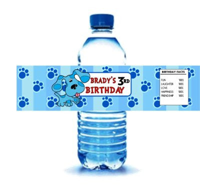 Blue's Clues Party Drink Labels  - PERSONALIZED