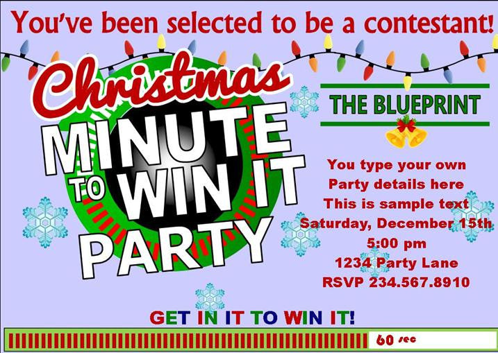 Christmas Minute to Win It Printable Party Set