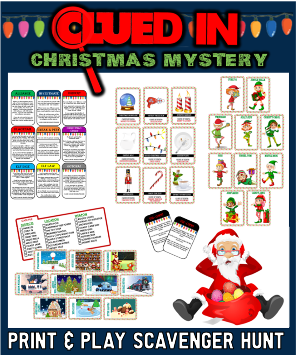 Clued-In Murder Mystery Hunt - Christmas Edition