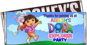 Dora the Explorer Candy Bar Wrapper - PERSONALIZED