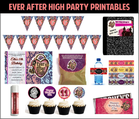 Ever After High Party Printables - EDITABLE!