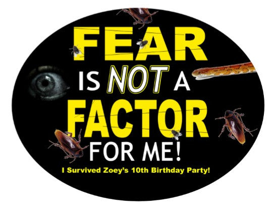 Fear Factor Party Decal / Sign - EDITABLE