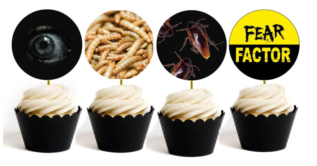 Fear Factor Party Cupcake Toppers