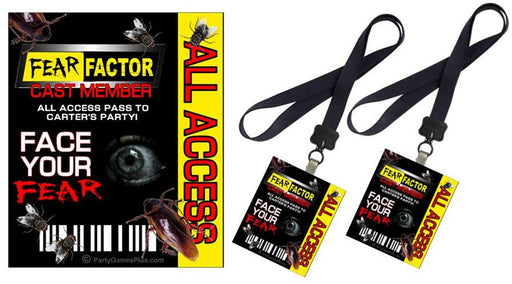 Fear Factor Party Badges - EDITABLE