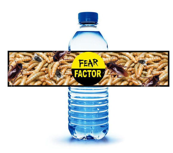 Fear Factor Party Drink Labels