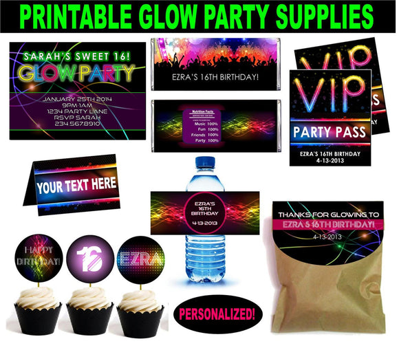Glow/Neon Party Set - PERSONALIZED