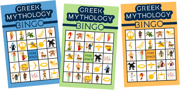 Printable Greek Mythology Bingo Game