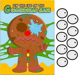 picture about Pin the Tail on the Donkey Printable known as Grossery Gang Get together Video game- Pin the Eye upon the Gingerdread Male - PRINTABLE