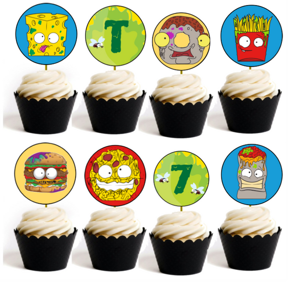 Grossery Gang Party Cupcake Toppers