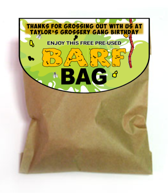Grossery Gang Favor 'Barf Bag
