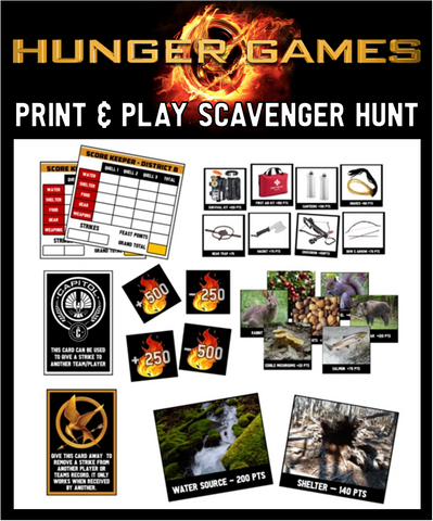 Hunger Games Scavenger Hunt