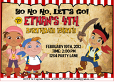 Jake and The Neverland Pirates Invitation - PERSONALIZED