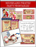 Jake and the Neverland Pirates Party Printables - PERSONALIZED!