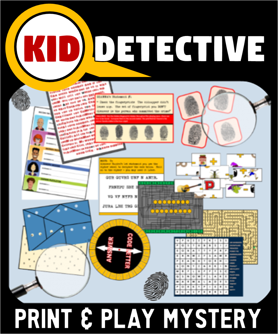 Printable Detective Mystery Party Game - The Case of the Stolen Goodies!