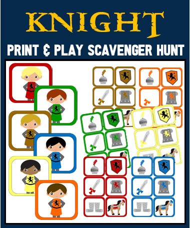 Royal Knight Picture Scavenger Hunt