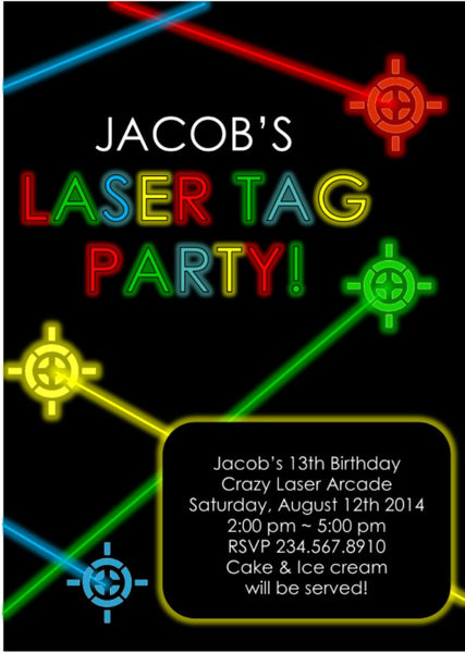 Laser Tag Party Invitations was perfect invitations design