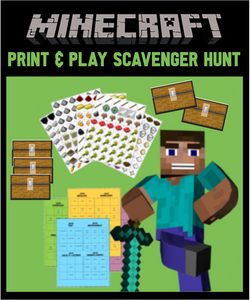 Minecraft Scavenger Hunt