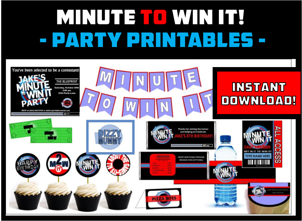 Minute to Win It Printable Party Set