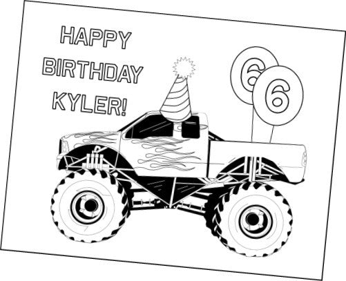 Monster Truck Party Printables - PERSONALIZED